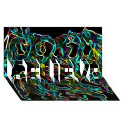 Soul Colour BELIEVE 3D Greeting Card (8x4)