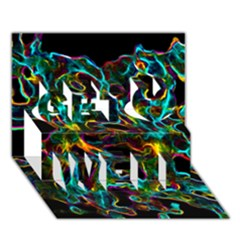 Soul Colour Get Well 3D Greeting Card (7x5)