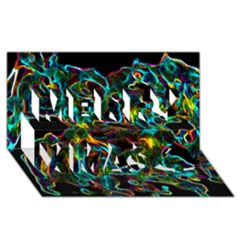 Soul Colour Merry Xmas 3D Greeting Card (8x4)