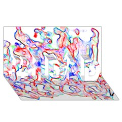 Soul Colour Light #1 DAD 3D Greeting Card (8x4)