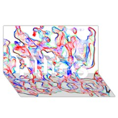 Soul Colour Light HUGS 3D Greeting Card (8x4)