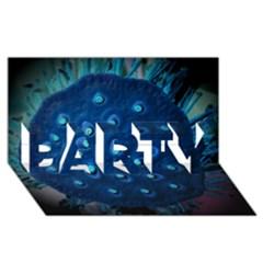 Blue Plant PARTY 3D Greeting Card (8x4)
