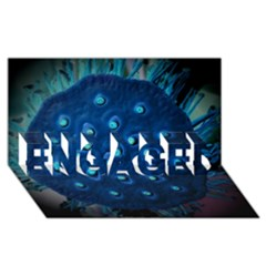 Blue Plant ENGAGED 3D Greeting Card (8x4)