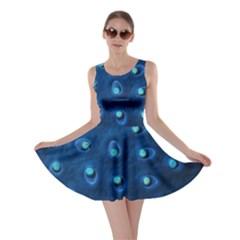 Blue Plant Skater Dresses