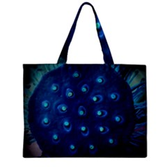 Blue Plant Zipper Tiny Tote Bags