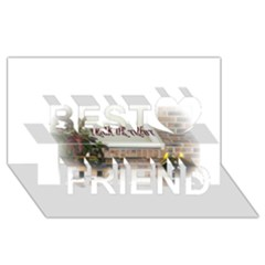 Black Ghoulish Pumpkins In White Matte Best Friends 3d Greeting Card (8x4)