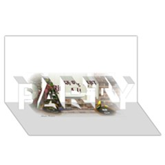 Black Ghoulish Pumpkins In White Matte PARTY 3D Greeting Card (8x4)
