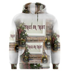 Black Ghoulish Pumpkins In White Matte Men s Pullover Hoodies