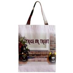 Black Ghoulish Pumpkins In White Matte Zipper Classic Tote Bags