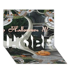 Creepy Pumpkin Fractal Hope 3d Greeting Card (7x5)