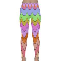 Pastel Waves Pattern Yoga Leggings