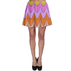 Pastel Waves Pattern Skater Skirt