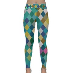 Rhombus pattern in retro colors Yoga Leggings