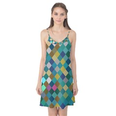 Rhombus pattern in retro colors Camis Nightgown