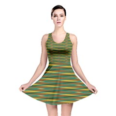 Diagonal stripes pattern Reversible Skater Dress