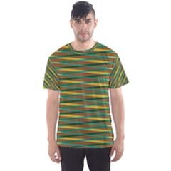 Diagonal stripes pattern Men s Sport Mesh Tee