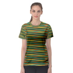 Diagonal stripes pattern Women s Sport Mesh Tee