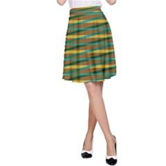 Diagonal stripes pattern A-line Skirt
