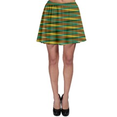 Diagonal stripes pattern Skater Skirt