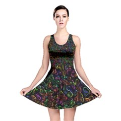 Colorful transparent shapes Reversible Skater Dress