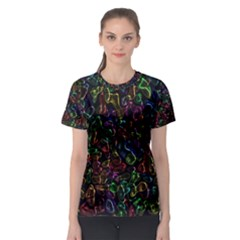 Colorful transparent shapes Women s Sport Mesh Tee