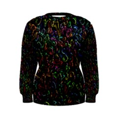 Colorful transparent shapes Sweatshirt