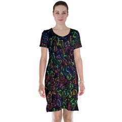 Colorful transparent shapes Short Sleeve Nightdress