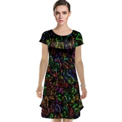 Colorful Transparent Shapes Cap Sleeve Nightdress