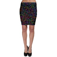 Colorful transparent shapes Bodycon Skirt