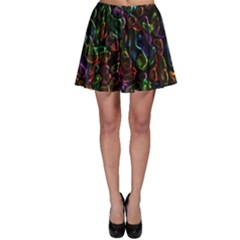 Colorful transparent shapes Skater Skirt