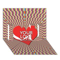 Your Love Moves Me I Love You 3d Greeting Card (7x5)