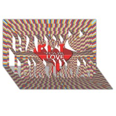 Your Love Moves Me Happy Birthday 3D Greeting Card (8x4)