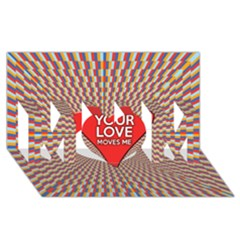 Your Love Moves Me MOM 3D Greeting Card (8x4)