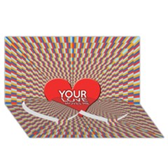Your Love Moves Me Twin Heart Bottom 3D Greeting Card (8x4)