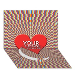 Your Love Moves Me Circle Bottom 3d Greeting Card (7x5)