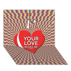 Your Love Moves Me Apple 3D Greeting Card (7x5)