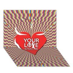 Your Love Moves Me Clover 3d Greeting Card (7x5)
