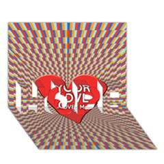 Your Love Moves Me HOPE 3D Greeting Card (7x5)