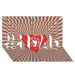 Your Love Moves Me #1 DAD 3D Greeting Card (8x4)