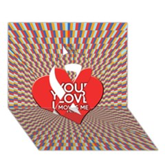 Your Love Moves Me Ribbon 3D Greeting Card (7x5)