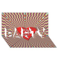 Your Love Moves Me PARTY 3D Greeting Card (8x4)