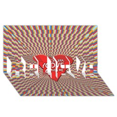 Your Love Moves Me Believe 3d Greeting Card (8x4)