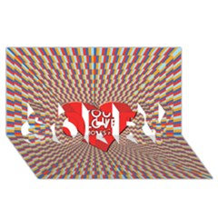 Your Love Moves Me SORRY 3D Greeting Card (8x4)