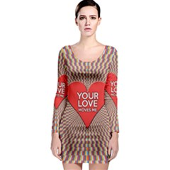 Your Love Moves Me Long Sleeve Bodycon Dresses