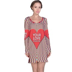 Your Love Moves Me Long Sleeve Nightdresses