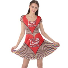 Your Love Moves Me Cap Sleeve Dresses