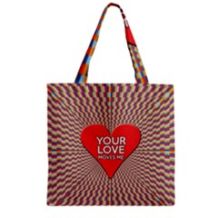 Your Love Moves Me Zipper Grocery Tote Bags
