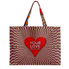 Your Love Moves Me Zipper Tiny Tote Bags