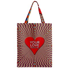 Your Love Moves Me Zipper Classic Tote Bags