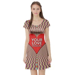 Your Love Moves Me Short Sleeve Skater Dresses